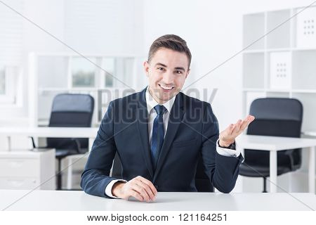 Businessman is wearing tasteful