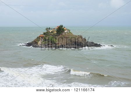 Island Hon Ba and temple women in the area of Vung Tau. Vietnam