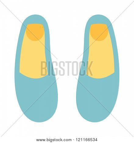 Ballet shoes dance studio symbol - illustration. Ballet shoes dance performance. Ballet shoes elegant footwear. Ballet blue cartoon shoes elegant footwear. Activity ballet shoes