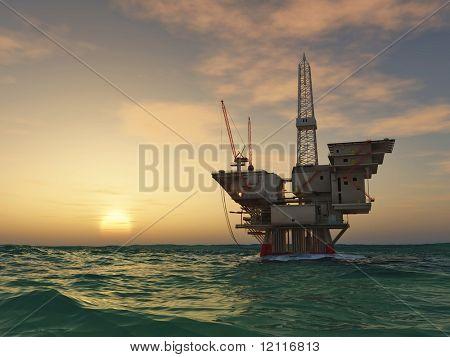 Meer Oil Rig Bohren Plattform