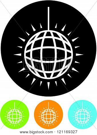 Shining Mirror Ball - Vector icon isolated