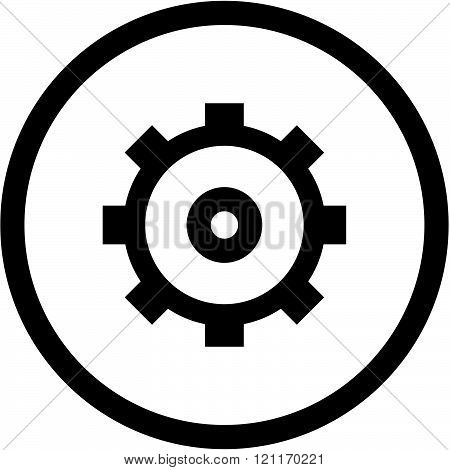 Gear - Vector icon isolated on white
