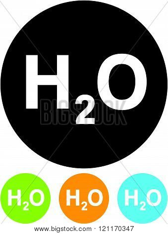 Water chemical formula - Vector icon isolated.