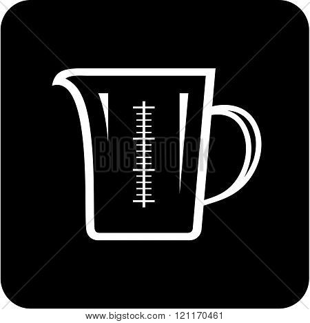 Measuring glass jug - Vector icon isolated on white