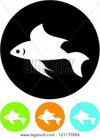 Goldfish - Vector icon isolated on white