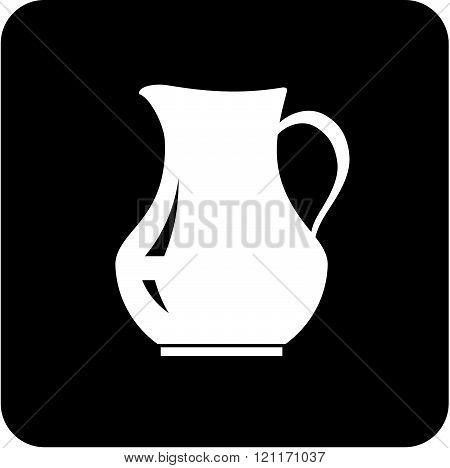 Ceramic jug - vector illustration isolated on white