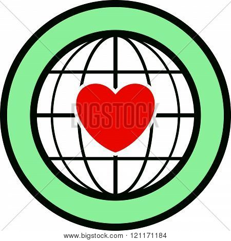 Human heart - Cardiology patient vector icon