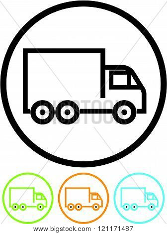 Delivery lorry truck - Vector icon isolated