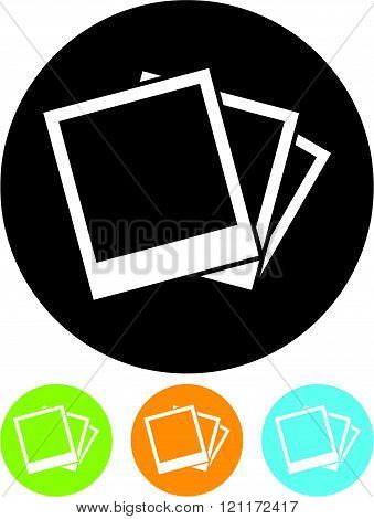 Photo gallery pictures - vector icon isolated.