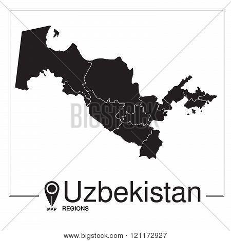 Uzbekistan Regions Map