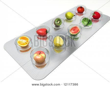 píldoras de vitaminas naturales