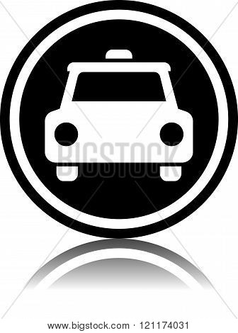 Taxi cab - Vector icon isolated