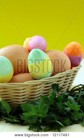 Easter egg decorating colorful