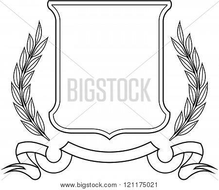 Laurel Wreath and Ribbon Emblem - Vector icon