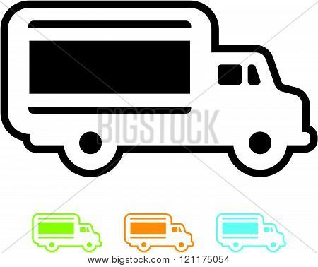 Delivery truck - Vector icon