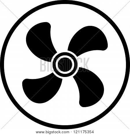 Ventilator air screw - Air conditioner vector icon.