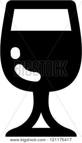 Wineglass - Vector icon isolated
