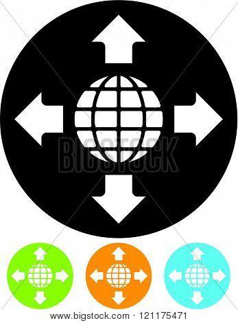 Worldwide - Vector icon
