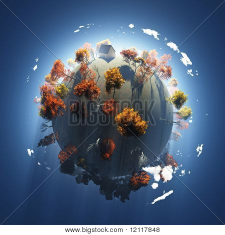 autumn on small planet