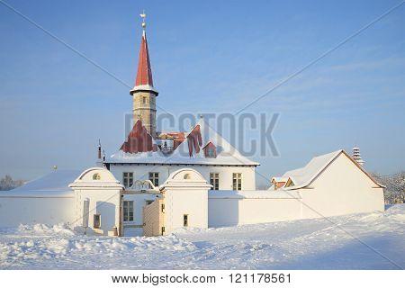 Priory Palace january day. Gatchina, Russia