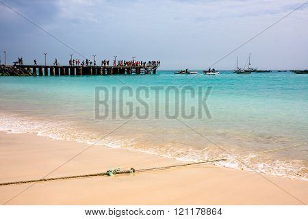 Beach at Atlantic Ocean, Cape Verde