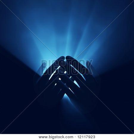 luz nas mãos, a energia mágica