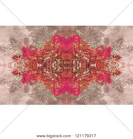 Floral Collage Stripe Background