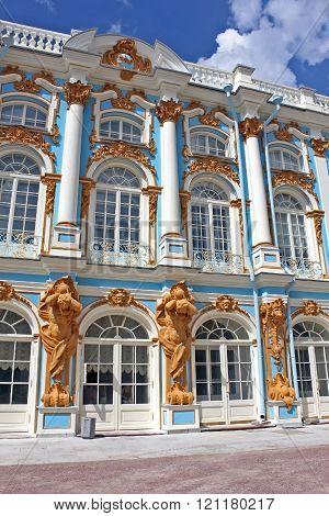 Catherine Palace  In Tsarskoye Selo, Russia