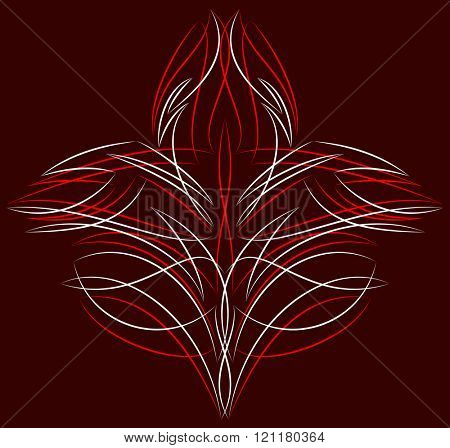 Pinstripe Design Vinyl Ready Vector Illustration