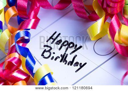Happy Birthday Concept