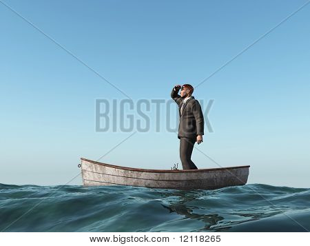 lost man in a boat