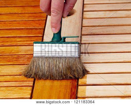 Wooden Table Brush, Apply Oil