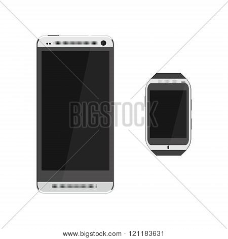 Smartphone And Smartwatch