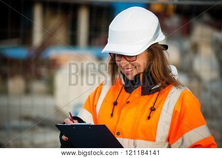 Senior woman engineer at work