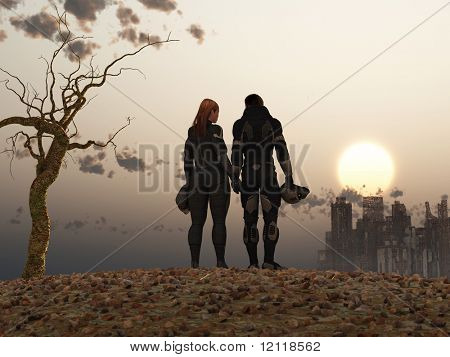 Post Apocalypse-paar