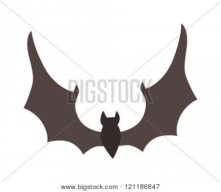 Illustration of Cute Cartoon Halloween bat vector. Cartoon bat flying. Bat cartoon flying vector illustration. Cartoon bat scary animal. Cartoon bat halloween character. Cartoon bat.