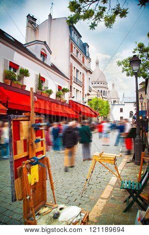 Montmartre Paris. Area Artists
