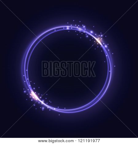 Purple Glowing Rings abstract background