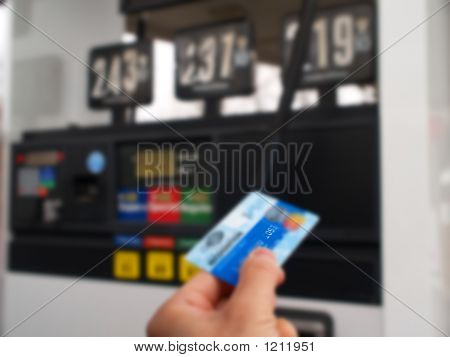 Pay Gas At A Gas Station