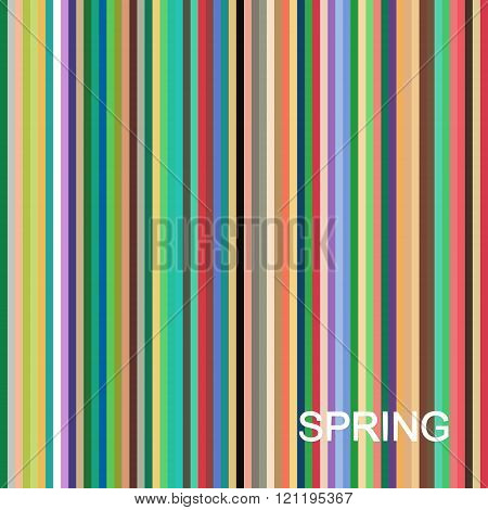vector seasonal color analysis palette for spring type. Type of female appearance