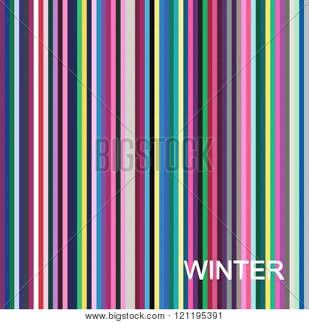 vector seasonal color analysis palette for winter type. Type of female appearance