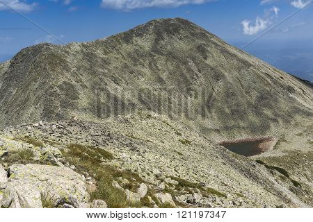 View of Polezhan peak and Upper Polezhansko lake, Pirin Mountain, Bulgaria