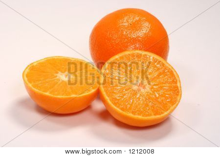 Close Up Of Sliced Clementine Orange Fruit