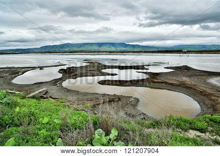 Alviso Slough and East Bay, San Francisco Bay Area Landscape