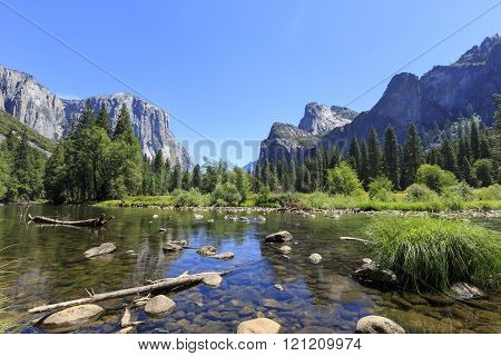The Famous Valley View Of Yosemite