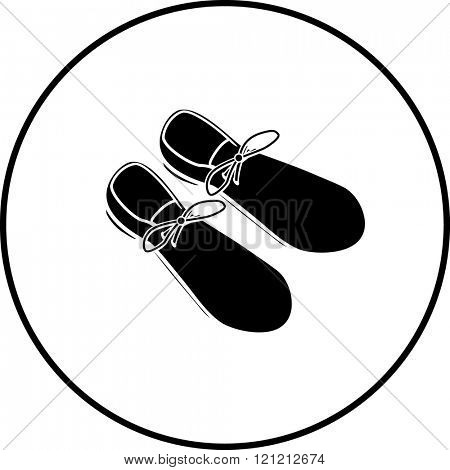 large clown shoes symbol