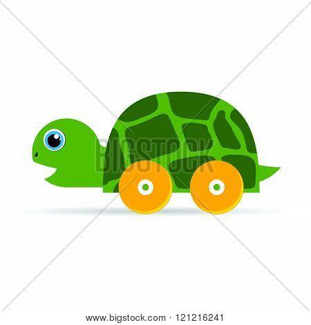 Baby Toys Green Turtle Illustration