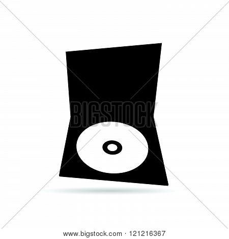 Cd Black And White Illustration