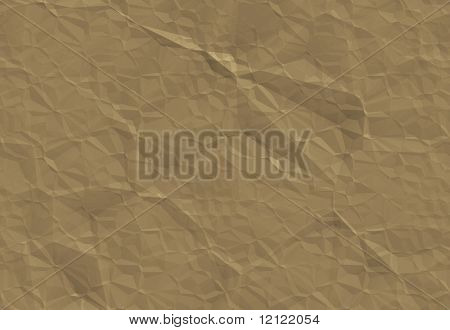 Brown crumpled paper that tiles
