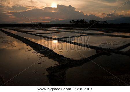 Salt fields north of Nha Trang, Vietnam